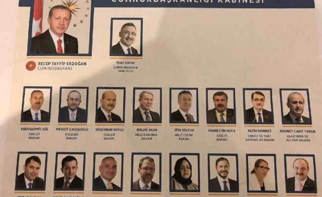 Erdoğan yeni kabineyi açıkladı...