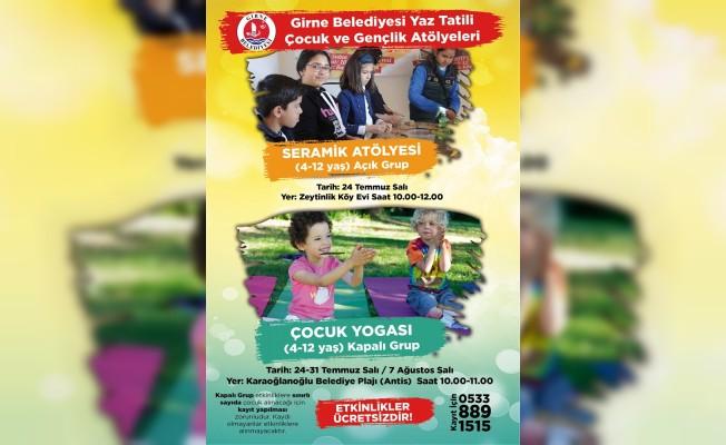 Girne Belediyesi'nin Yaz Okulu etkinlikleri sürüyor...