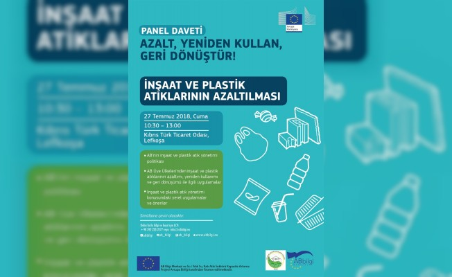 """""""İnşaat ve Plastik Atıklarının Azaltılması"""" panelİ düzenleniyor"""