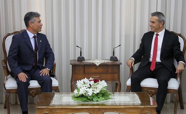 Uluçay, Sivil Savunma Başkanı Karakoç'u kabul etti