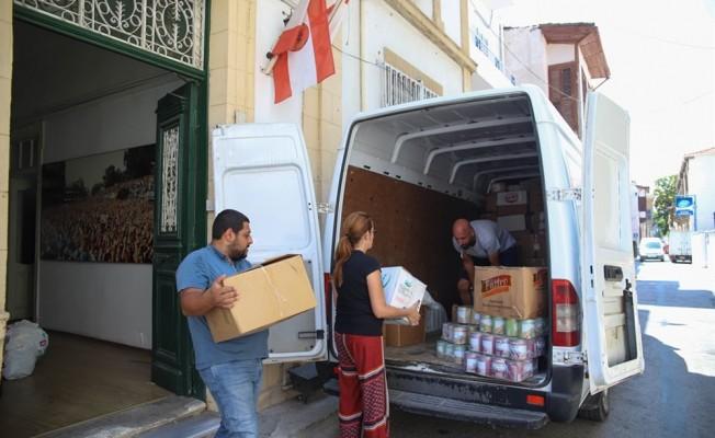 Yunan halkı için toplanan malzemeler teslim edildi