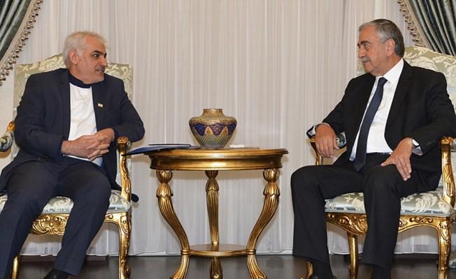 Akıncı, İran'ın Kıbrıs Büyükelçisini kabul etti