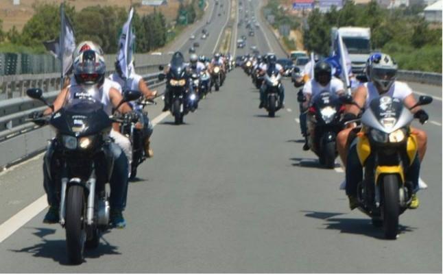 Rum motosikletliler eylem yaptı!