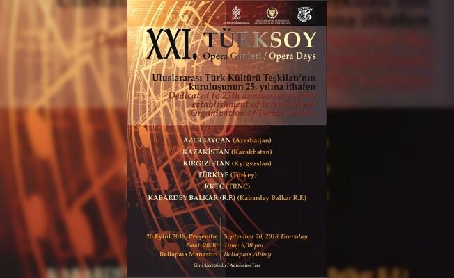 21. Türksoy Opera Günleri 20 Eylül'de...