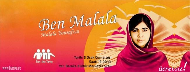 """İzle-Tartış'ta """"Ben Malala"""" izlenecek"""