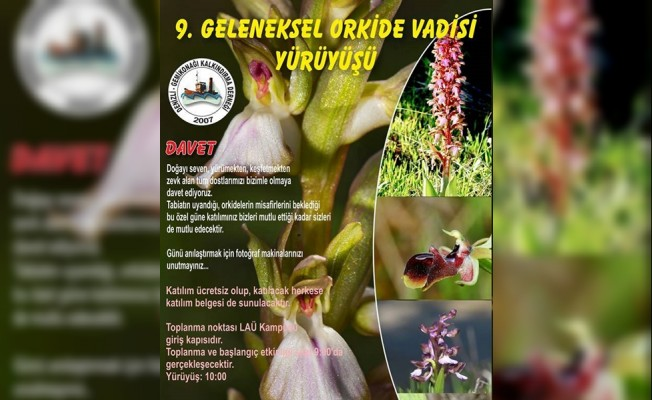 Orkide Gözlem Yürüyüşü, 10 Mart'a ertelendi