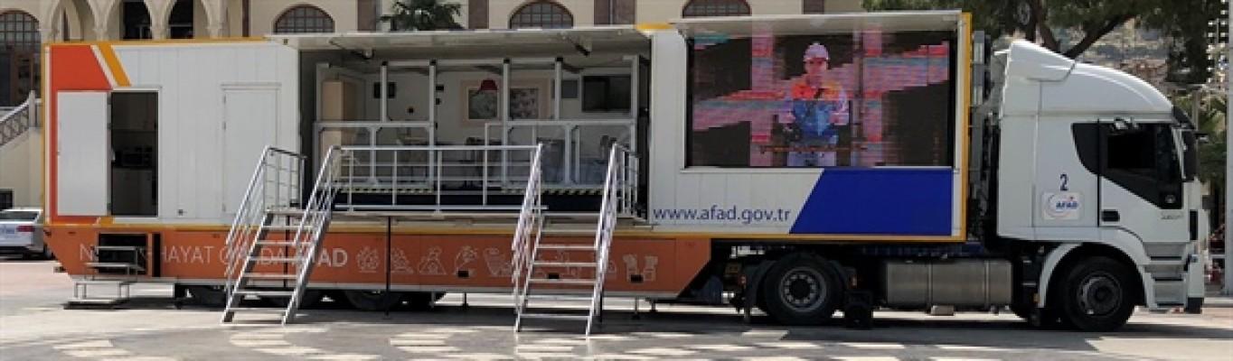 AFAD'ın deprem simülasyon tırı KKTC'ye geliyor