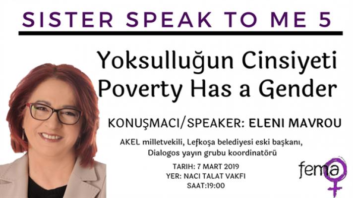 """Mavrou """"Yoksulluğun Cinsiyeti"""" konusunda konuşacak"""