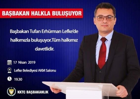 Başbakan Lefke halkıyla buluşacak