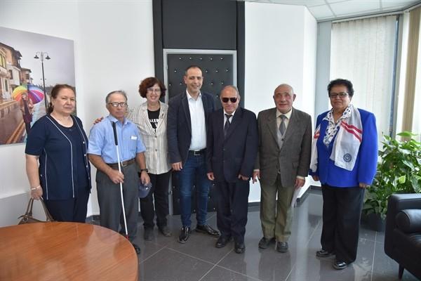 Engelliler Federasyonu Harmancı'yı ziyaret etti