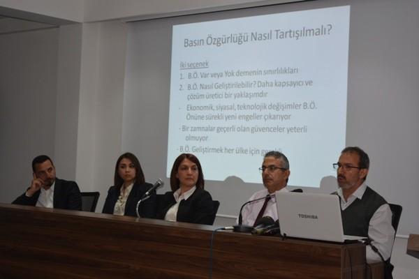 'Kuzey Kıbrıs'ta Basın Özgürlüğü' paneli düzenlendi