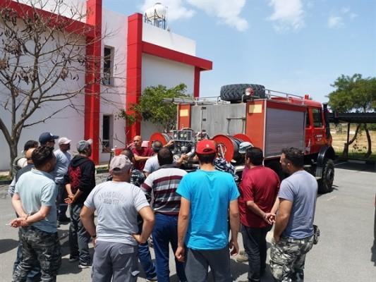 Yangın Hazır Kuvvet ekiplerine eğitim veriliyor