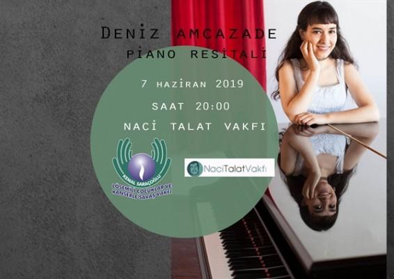 Amcazade Saraçoğlu Vakfı yararına resital verecek