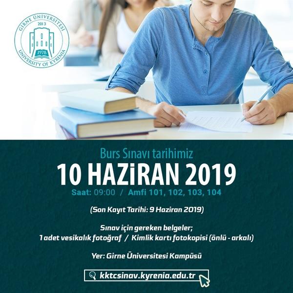 Girne Üniversitesi Burs Sınavı 10 Haziran'da
