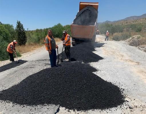 Haspolat-Taşkent yolunda asfaltlama...