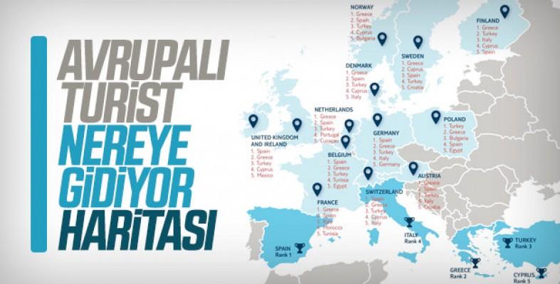 Avrupalı turistler hangi ülkeleri tercih ediyor...