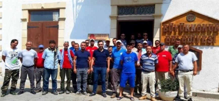 DEV-İŞ, Büyükkonuk Belediyesi'nde grev yaptı
