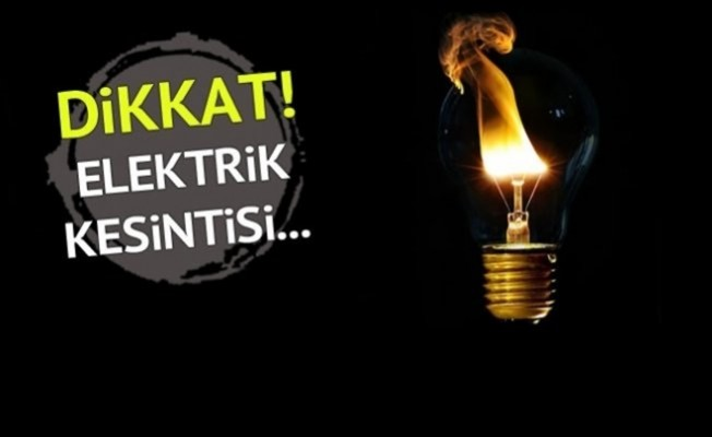 Girne'de elektrik kesintisi...