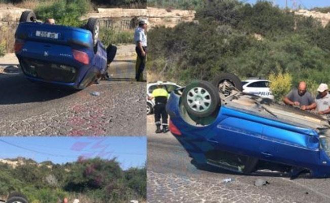 İskele'de trafik kazası! 2 yaralı...