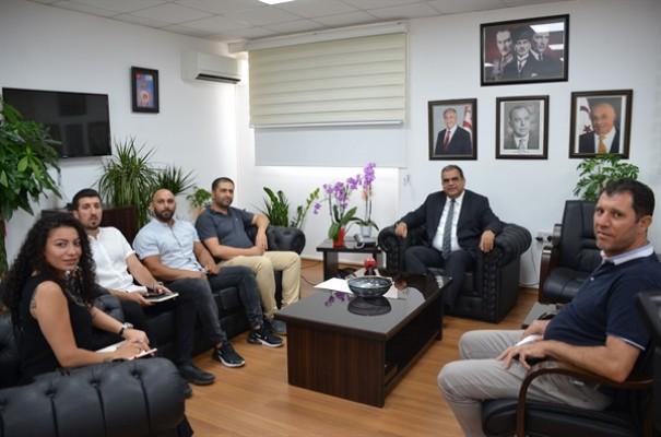 Sucuoğlu, Mobilya Sanayicileri Derneği'ni kabul etti