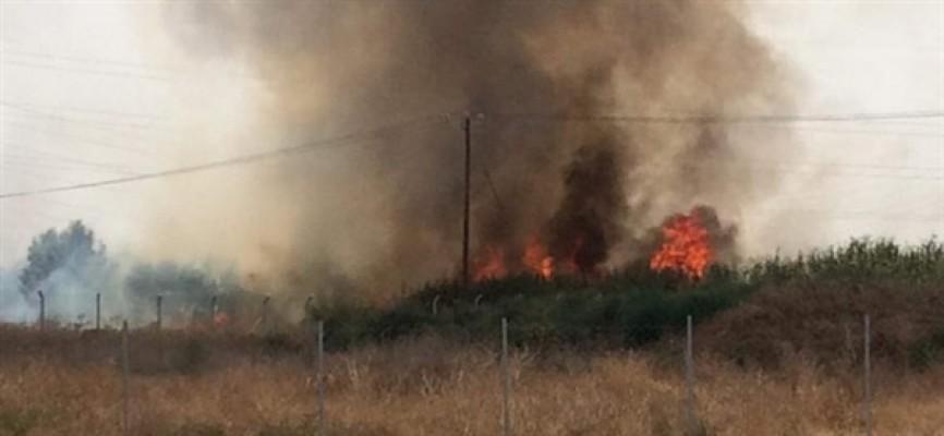 Haspolat'taki yangın kontrol altına alındı...