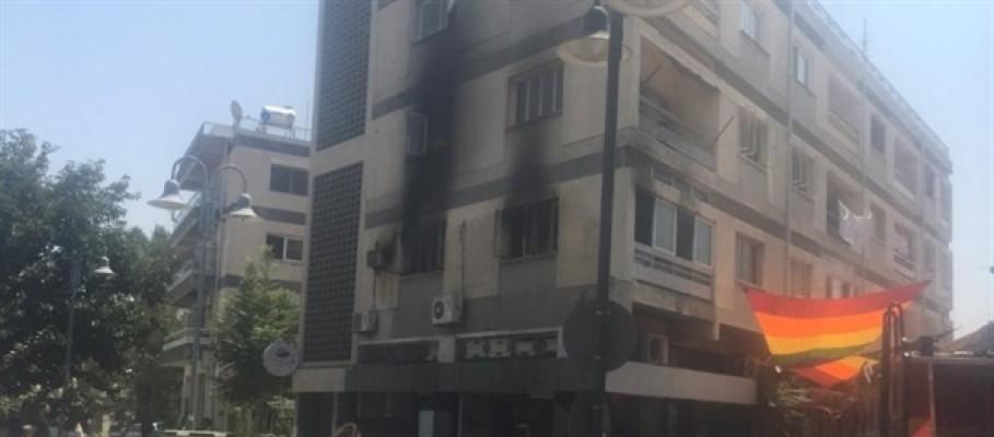 Lefkoşa'da apartman dairesinde yangın...