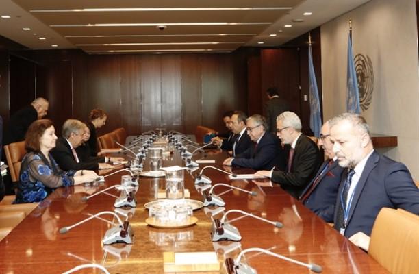 Akıncı -  Guterres görüşmesi sona erdi...