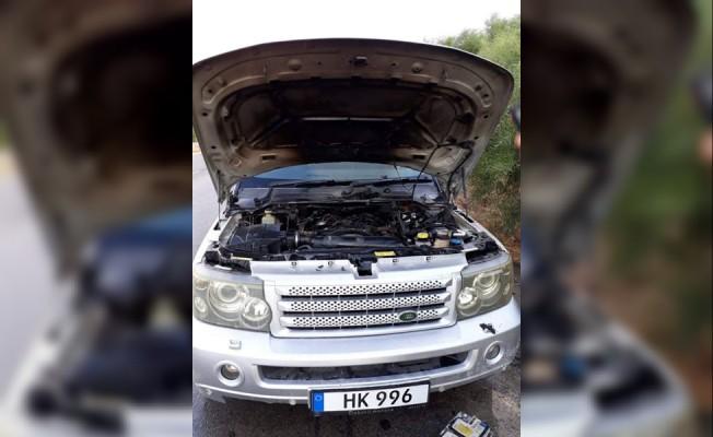Gazimağusa - Lefkoşa Anayolu üzerinde araç yangını