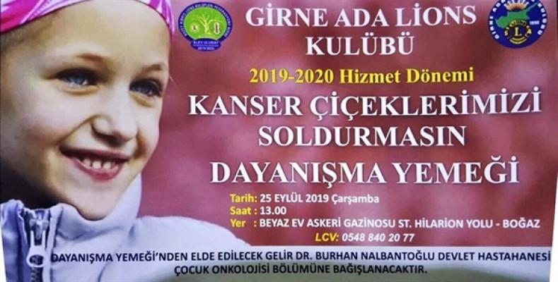 Girne Ada Lions Kulübü, dayanışma yemeği düzenliyor....