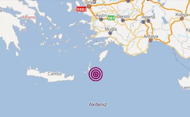 Akdeniz'de deprem...