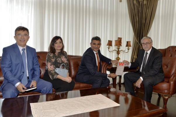 Akıncı, Creditwest Bank Genel Müdürü Zaheer'i kabul etti