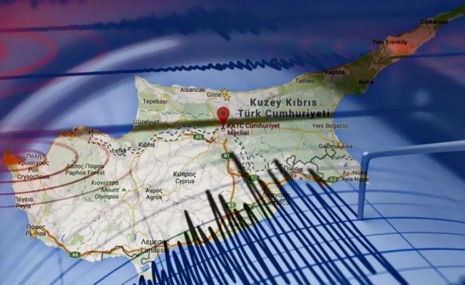 Kıbrıs'ta Deprem...