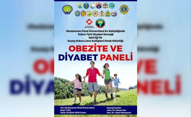 Obezite ve Diyabet Paneli düzenlenecek