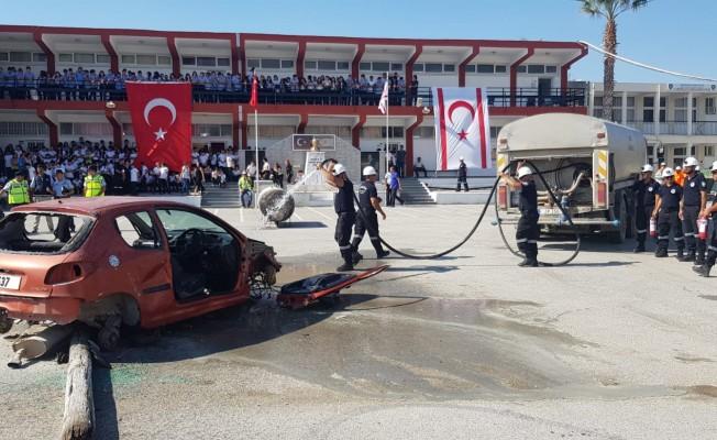 Sivil Savunma Lefkoşa'da tatbikat gerçekleştirdi