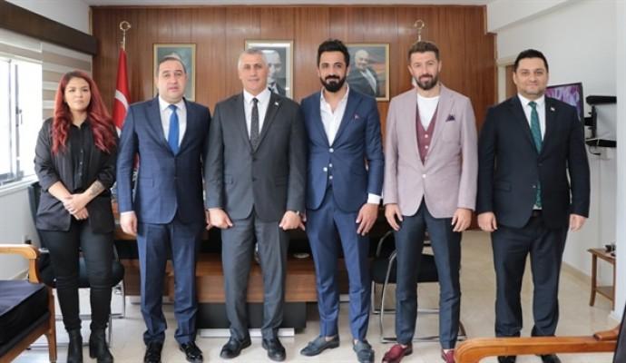 Amcaoğlu, Osmaniye Gazeteciler Cemiyeti'ni kabul etti