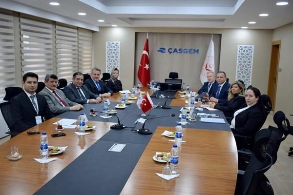 Çalışma ve Sosyal Güvenlik Bakanlığı heyeti Ankara'da...
