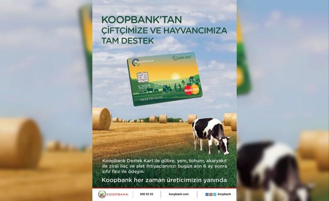 """Koopbank """"Destek Kart""""tan çiftçi ve hayvancıya tam destek"""