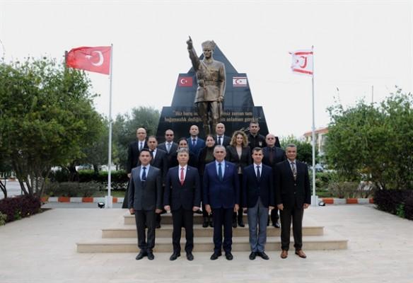 Çavuşoğlu, 'Sivil Savunma'ya nezaket ziyaretinde bulundu...