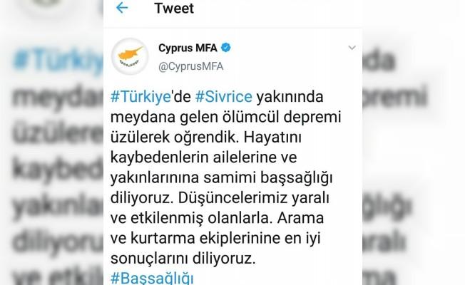 Hristodulidis Türkçe taziye mesajı yayınladı