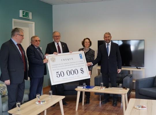 Kayıp Şahıslar Komitesi'ne 50 bin Dolarlık bağış