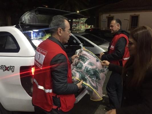 Kuzey Kıbrıs Türk Kızılay Derneği'nden mültecilere yardım