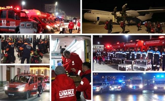 Türkiye'nin dört bir yanından ekipler bölgeye sevk edildi