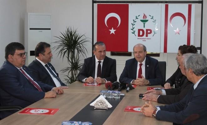 UBP'den DP'ye seçim ziyareti...