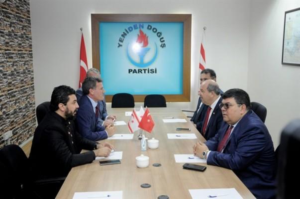 UBP, Yeniden Doğuş Partisi'ni ziyaret etti...