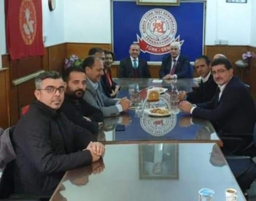 Ataoğlu ve heyeti Türk-Sen'i ziyaret etti...
