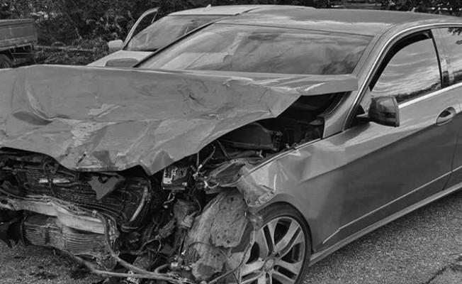 Çatalköy'de meydana gelen trafik kazasında 4 kişi yaralandı...