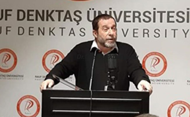 """Denktaş, """"Kıbrıs sorunu ve Maraş"""" konusunda sunum yaptı"""