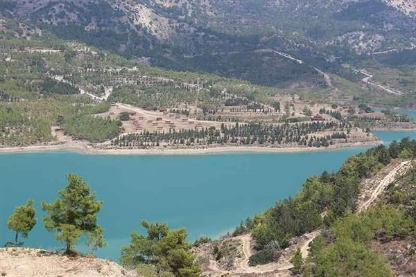 Geçitköy Barajı bölgesine fidanlar dikiliyor...