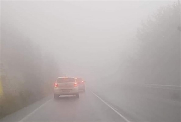 Girne-Değirmenlik yolunda sise dikkat!