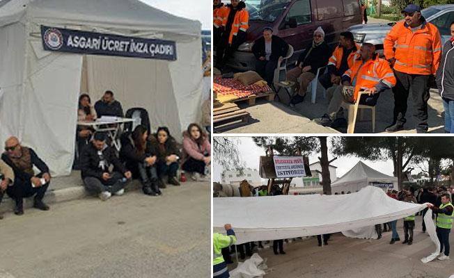 KKTC'nin ilk Çadır Kenti Başbakanlık önüne kuruldu...